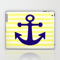 Blue Anchor with Yellow Ropes Laptop & iPad Skin
