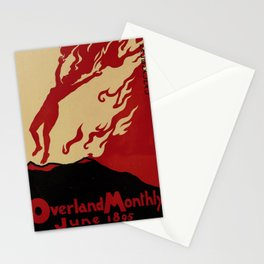 overland monthly   june. 1895  poster Stationery Cards