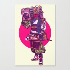 Hip-Hop Samurai Canvas Print