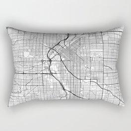 Denver Map White Rectangular Pillow