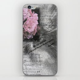 Be The Change You Wish To See In The World iPhone Skin