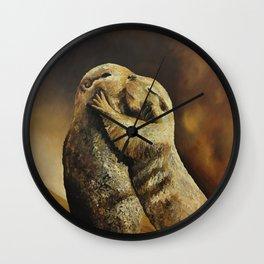 El beso de los perritos de la pradera Wall Clock