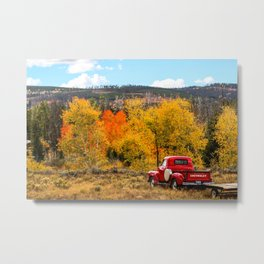 Old Chevy In The Fall Metal Print