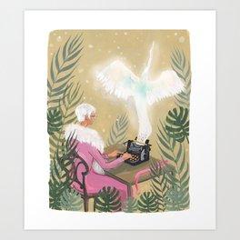 Esme the Writer Art Print