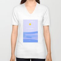 calm V-neck T-shirts featuring Calm by lillianhibiscus