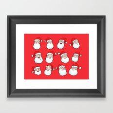 12 Santas Framed Art Print