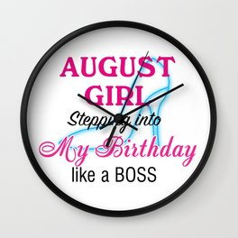 August Girl Birthday Wall Clock