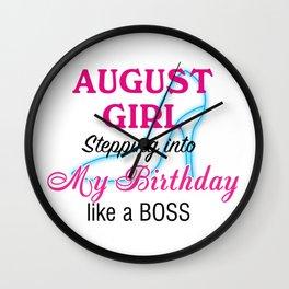 August Girl Birthday Wall Clock