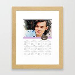 Harry Styles, One Direction, 1D, 1dFanArt, 2017 Calendar, Calendar, 2017 Framed Art Print