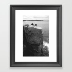 Us, Otter Cliffs Framed Art Print