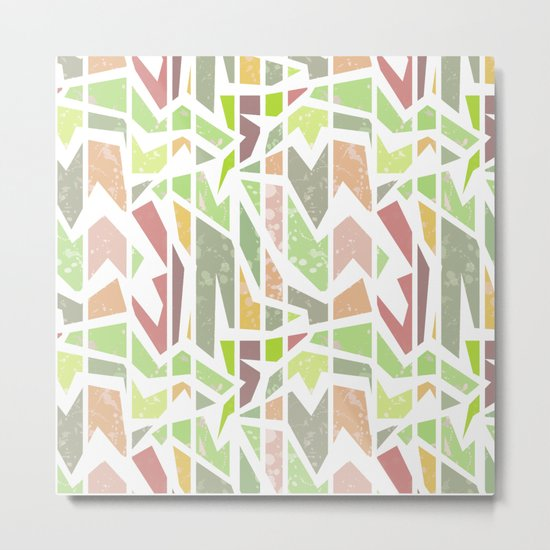 Abstract pattern . Geometric shapes . Metal Print