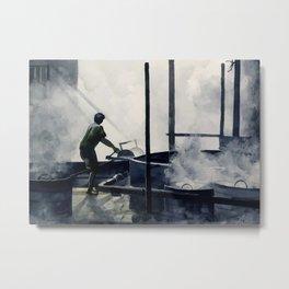 Old worker station Metal Print