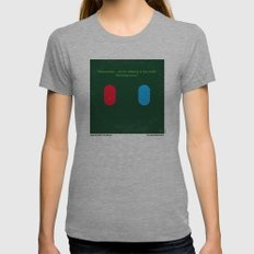 No093 My The Matrix minimal movie poster Womens Fitted Tee Tri-Grey SMALL