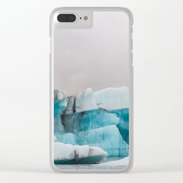 Iceberg in the glacial lagoon in Iceland - landscape photography Clear iPhone Case