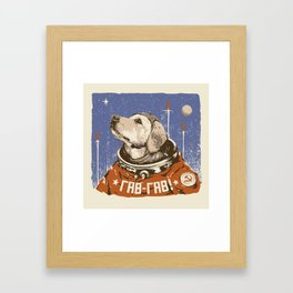 Soviet Space Dog Framed Art Print