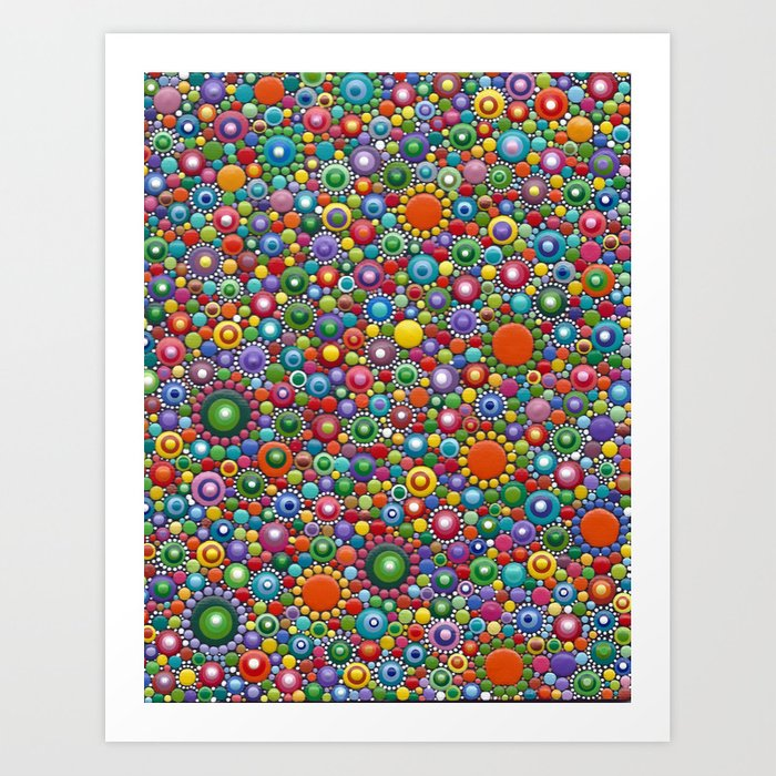 Colorful dotted Canvas 2 by Mandalaole- Spring Art Print