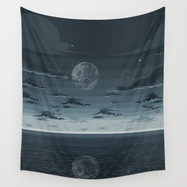 Blue night Wall Tapestry