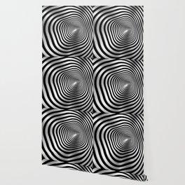 Square wormhole (b/w) Wallpaper