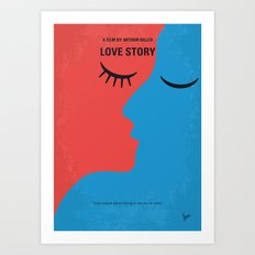 No600 My Love Story minimal movie poster Art Print
