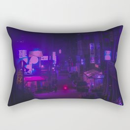 Vaporwave Vibes Alleyway Rectangular Pillow