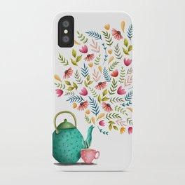 Beau-tea-ful Life Illustration iPhone Case