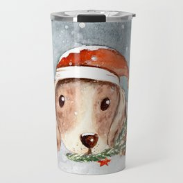 Christmas Puppy Look Travel Mug