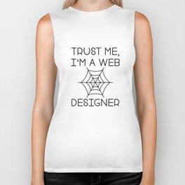 Trust Me I'm A Web Designers Biker Tank