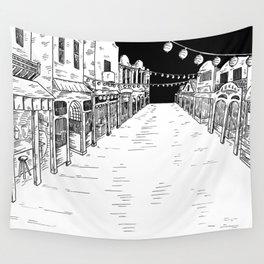 Deserted Fairground Wall Tapestry