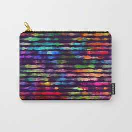 Rainbow watercolor brush stripes Carry-All Pouch