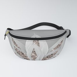 Gray Agave with Rose Gold Glitter #1 #shiny #tropical #decor #art #society6 Fanny Pack