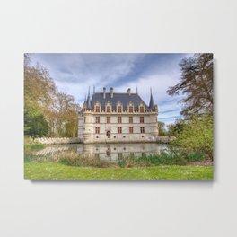 Chateau d'Azay-le-Rideau in Loire Valley, France. Metal Print
