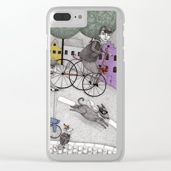The Day the Cat got Away Clear iPhone Case