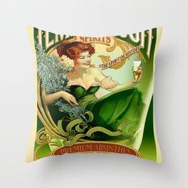 Vintage poster - Tempus Fugit Absinthe Throw Pillow