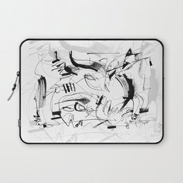 Crushed by a Bull - b&w Laptop Sleeve