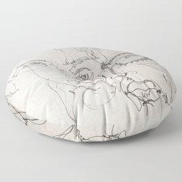 Blind Contour Floor Pillow