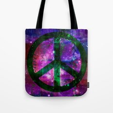 Peace symbol and infused colors Tote Bag
