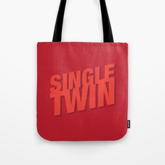 Single Twin Tote Bag