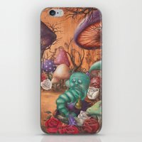 returns iPhone & iPod Skins featuring Alice returns by Caroletta