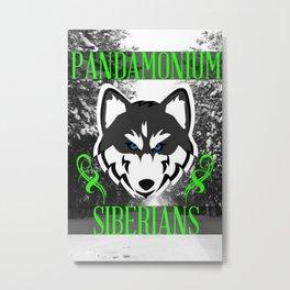 Pandamonium Siberians  Metal Print