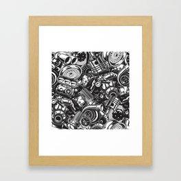Automobile car parts pattern Framed Art Print