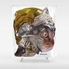 Cat Warrior Shower Curtain