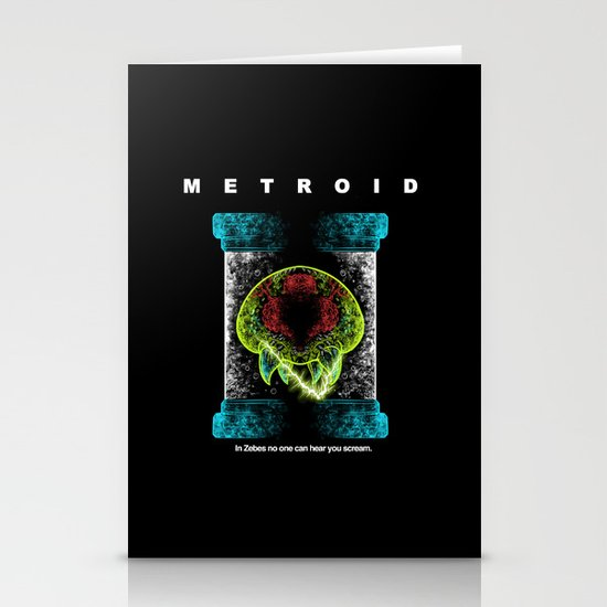 Metroid Stationery Cards