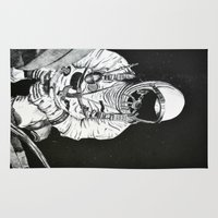 spaceman Area & Throw Rugs featuring Spaceman by Bri Jacobs