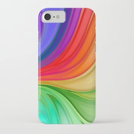 Abstract Rainbow Background iPhone Case