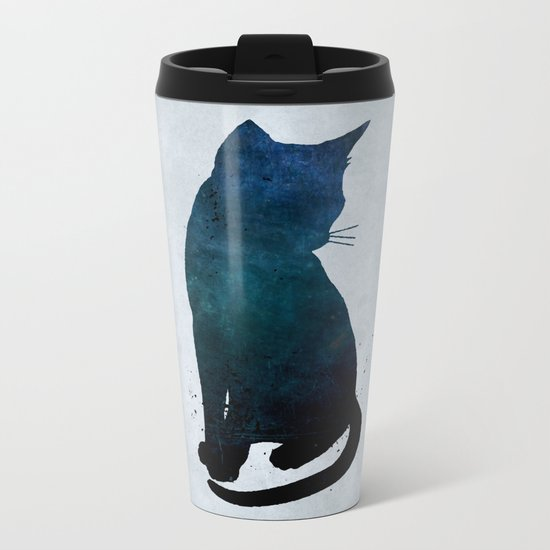 Dark Cat Metal Travel Mug