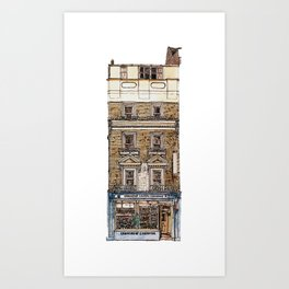 Campkins, Kings Parade, Cambridge, UK Art Print