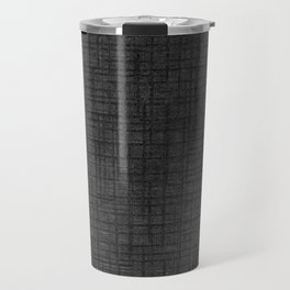 Grey striped parchment texture abstracts Travel Mug