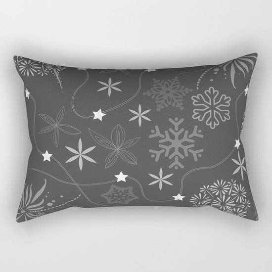 Stars on a string with snowflake and fireworks Rectangular Pillow