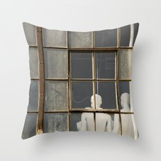 Mannequins in the Window Throw Pillow