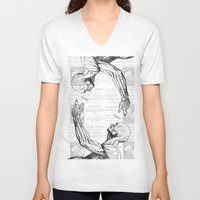 anatomy V-neck T-shirts featuring Anatomy by Alberto P